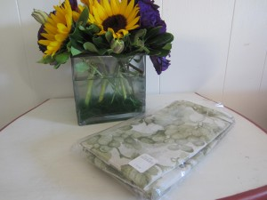 green cloth napkins