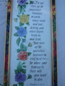 treasure in heaven verse
