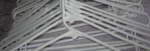 White plastic hangers